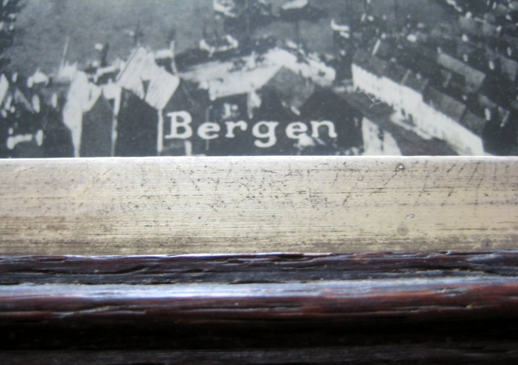 Norway Panoramic vintage photo print of Bergen, Eneberettiget Mittet, c1930. Detail. Title Bergen.