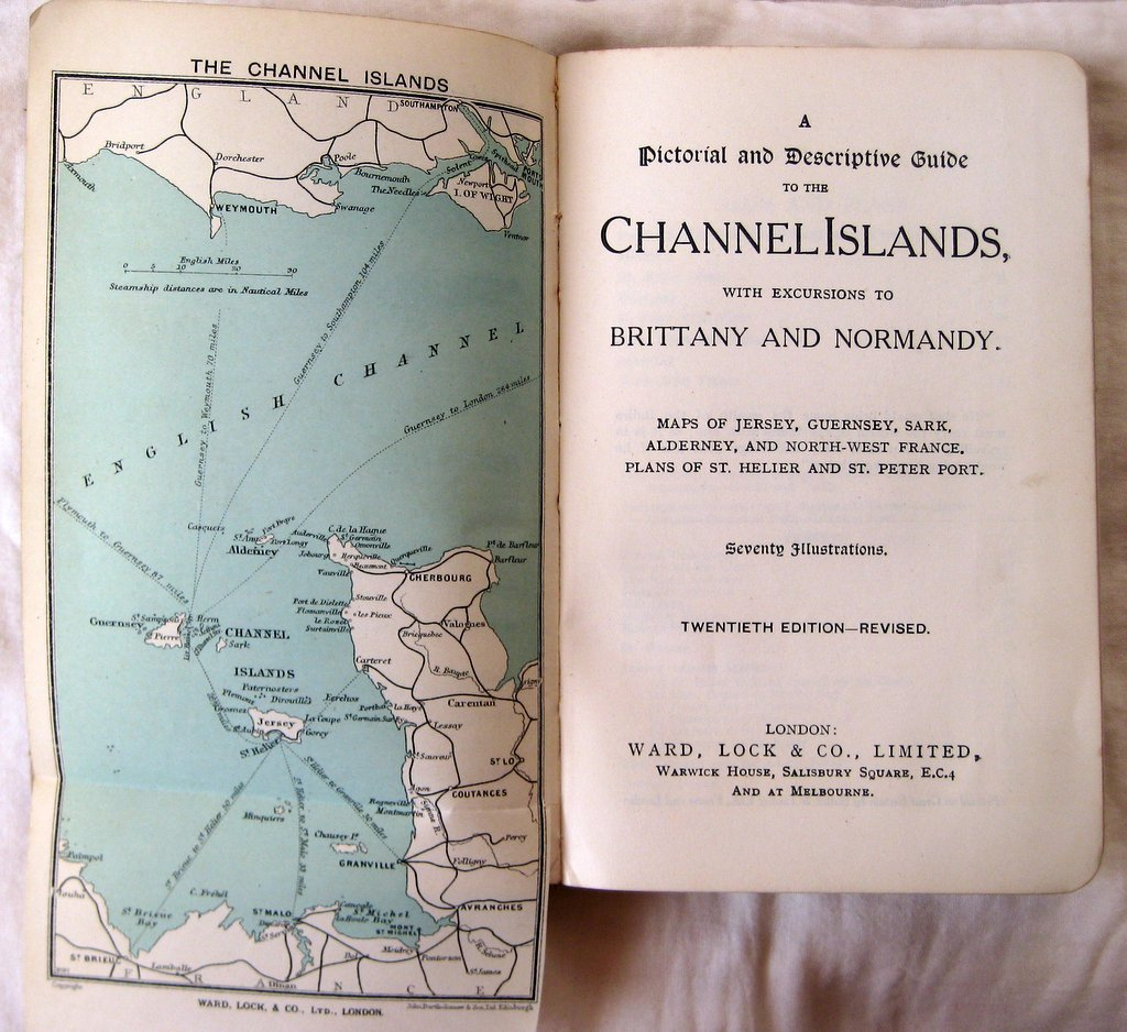 Ward Lock's Red Guide to The Channel Islands, 20th Edn 1930. Title page.