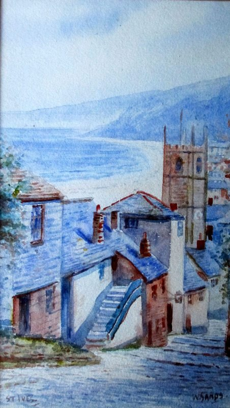 W. Sands, aka T.H. Victor, St. Ives, watercolour, signed, c1920.