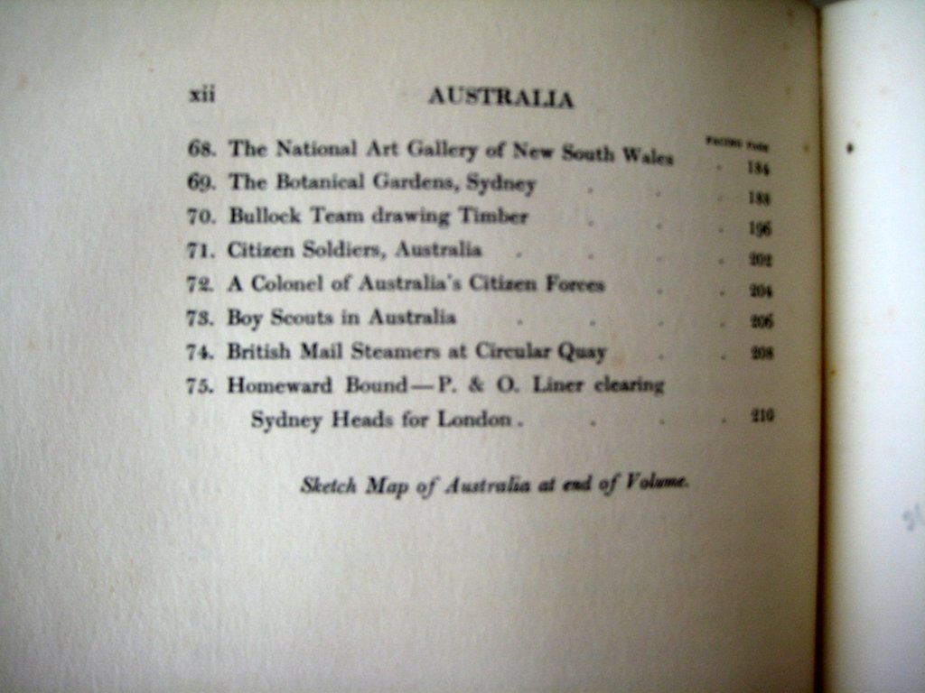 Australia painted by Percy FS Spence described by Frank Fox 1910.1st Edn. Detail.