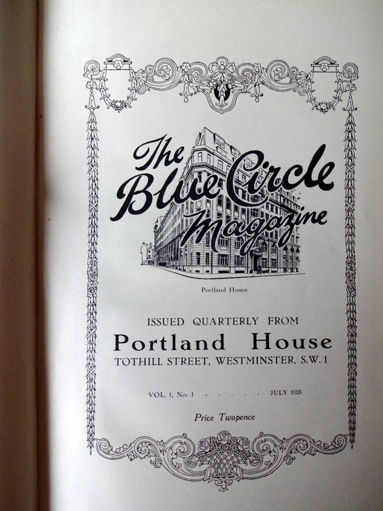 The Blue Circle Magazine, 1925-26. Title page.