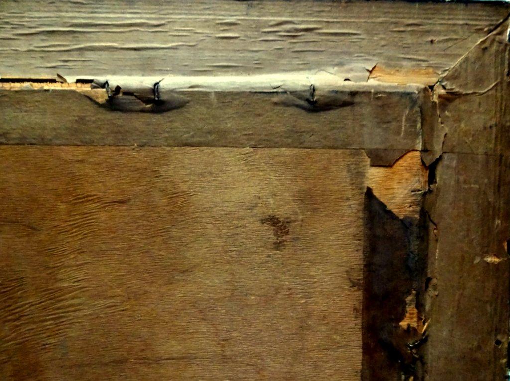 Frame, verso, detail.