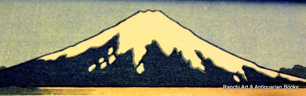 The Tama-gawa river in Bushu Province, Bushu, Tamagawa, original woodblock print, Hokusai, c1950. Detail.