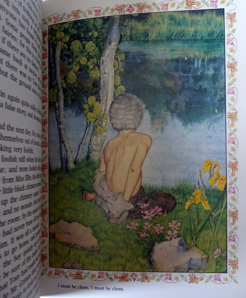 The Water-Babies Charles Kingsley, Illustrated by Susan Rowe, 1980. Details. Sample plate.