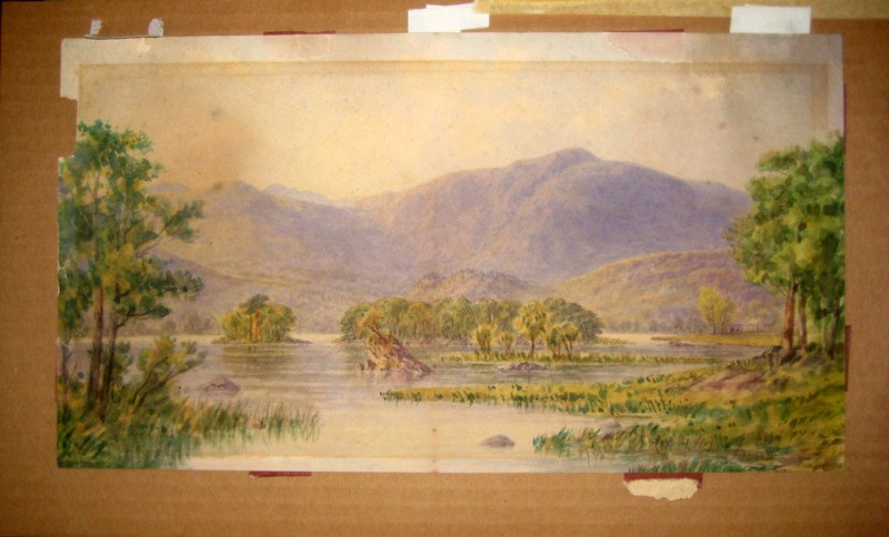 Rydal Lake watercolour unsigned c1900
