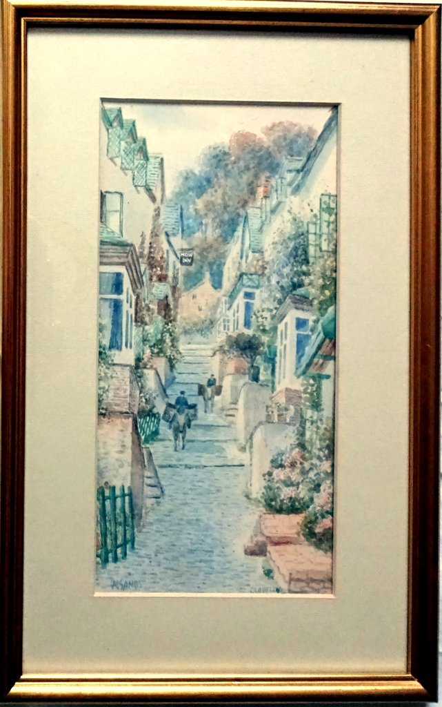 Up Along Clovelly N. Devon, watercolour, titled, signed W. Sands, dated 1929.