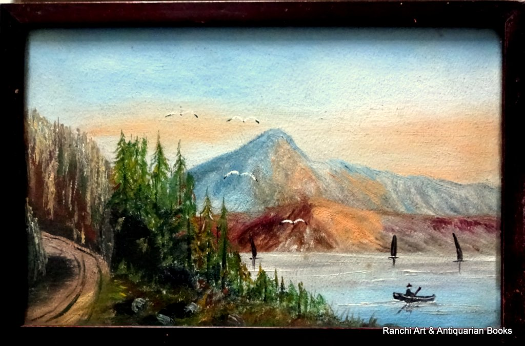 A pair of Appalachian landscapes, gouache, unsigned. c1900.
