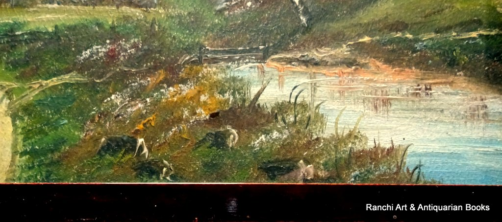 A pair of Appalachian landscapes, gouache, unsigned. c1900. Detail.