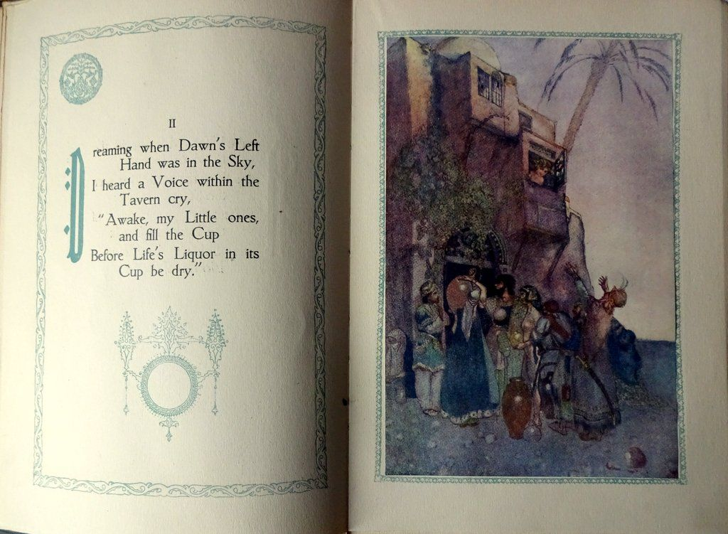 Rubaiyat of Omar Khayyam, Presented by Willy Pogany, 1917. Detail.