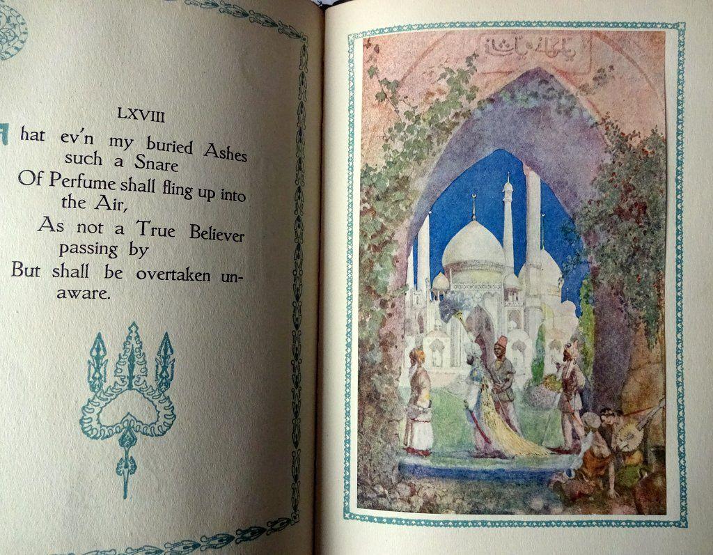 Rubaiyat of Omar Khayyam, Presented by Willy Pogany, 1917. Detail. Sample plate.