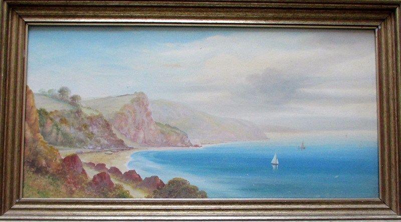Garman Morris, Oddicombe Bay, Devon, gouache, c1900.