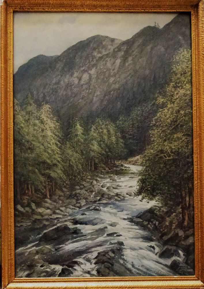 Mountain And River Landscape Buy Now Early 20th Century Watercolour Art