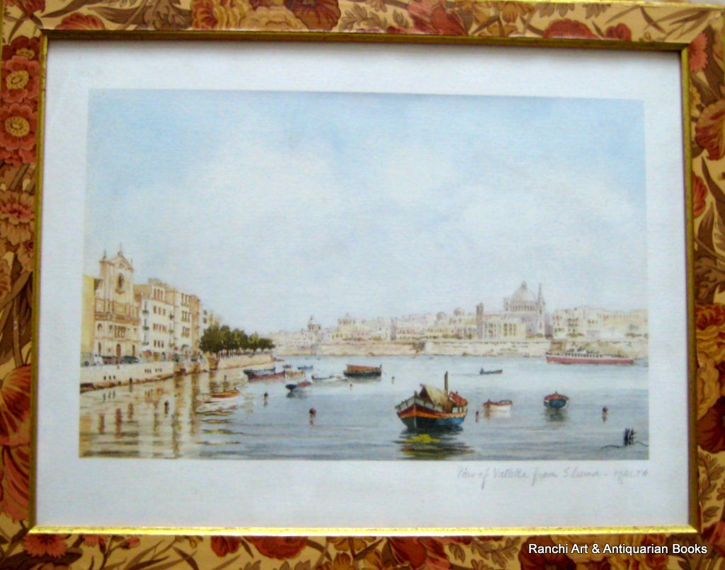 J. Pace, Valletta from Sliema, lithograph, c 1970.