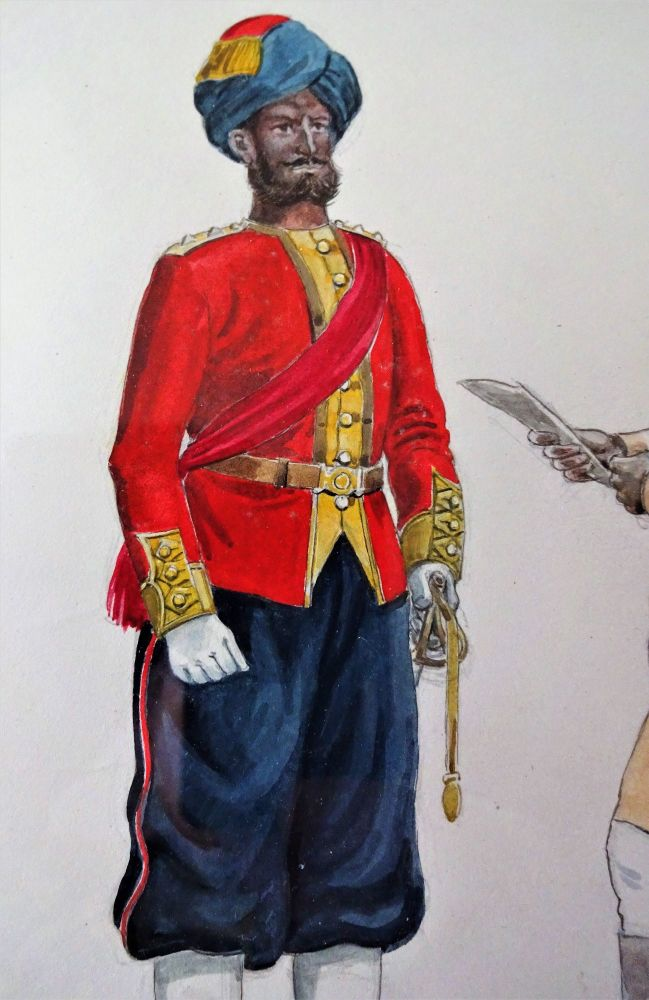 Detail of 7th Bengal Native Infantry painting.