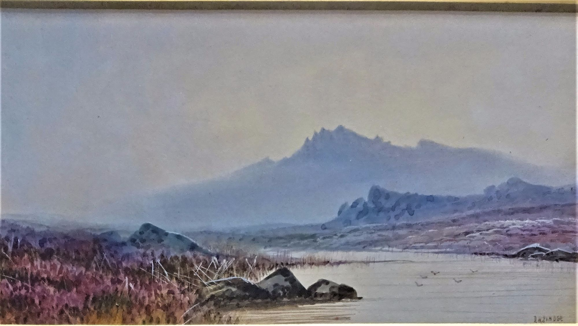 Pinder, D.H., The Peaks Dartmoor, watercolour and gouache, c1920. Framed.