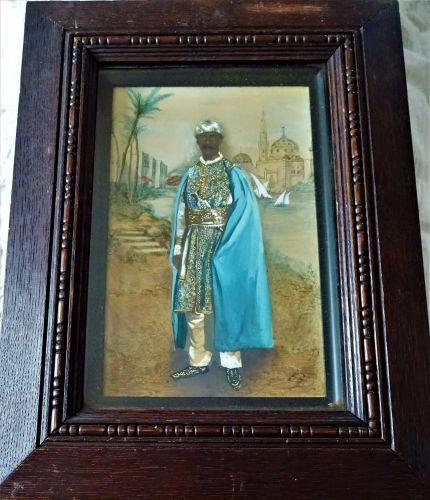 H.H. Mir Mahbub Ali Khan Bahadur, Nizam VI of Hyderabad, watercolour and go