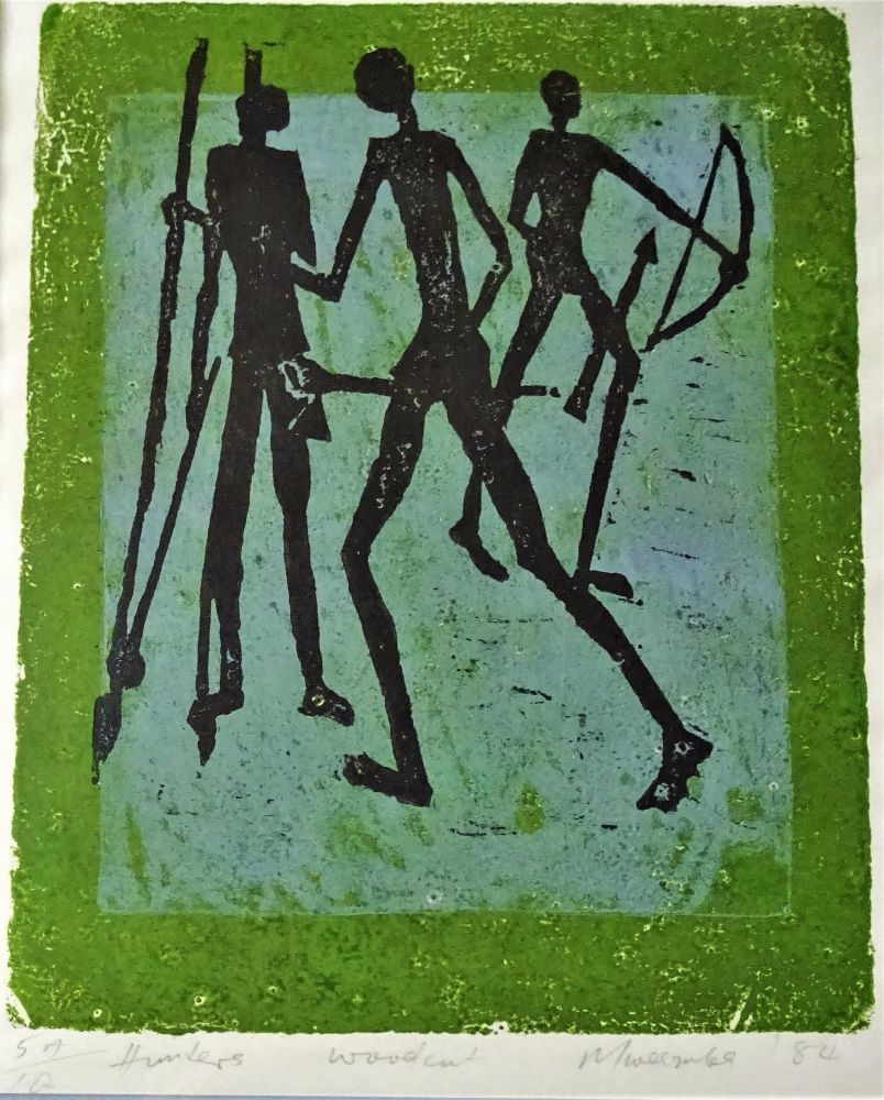 Woodcut, titled, signed and dated