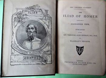 The Iliad of Homer, Translated by Alexander Pope, The Chandos Classics, Frederick Warne, 1883.