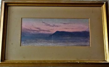 The Northern Lights, Nubia, Egypt, watercolour on paper, titled, signed Henry A. Harper. c1880.