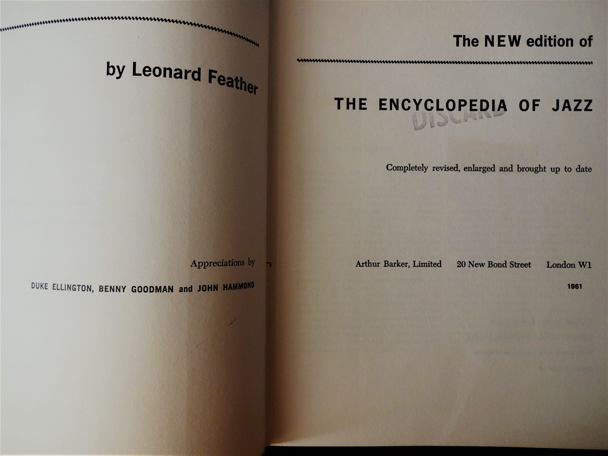 Leonard Feather, The Encyclopedia of Jazz, 1961.