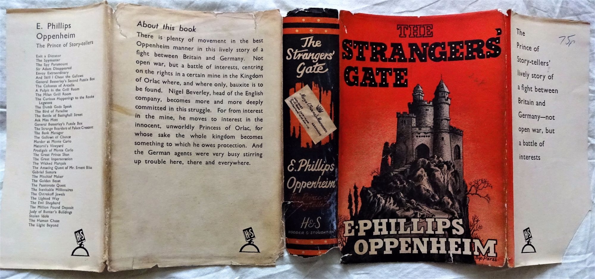 E. Phillips Oppenheim, The Strangers' Gate, Hodder & Stoughton, 1940. 1st Edition.