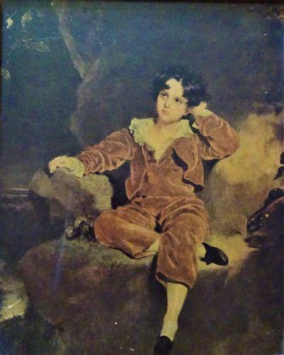 Portrait of the Son of J.G. Lambton, lithograph, original by Sir Thomas Law