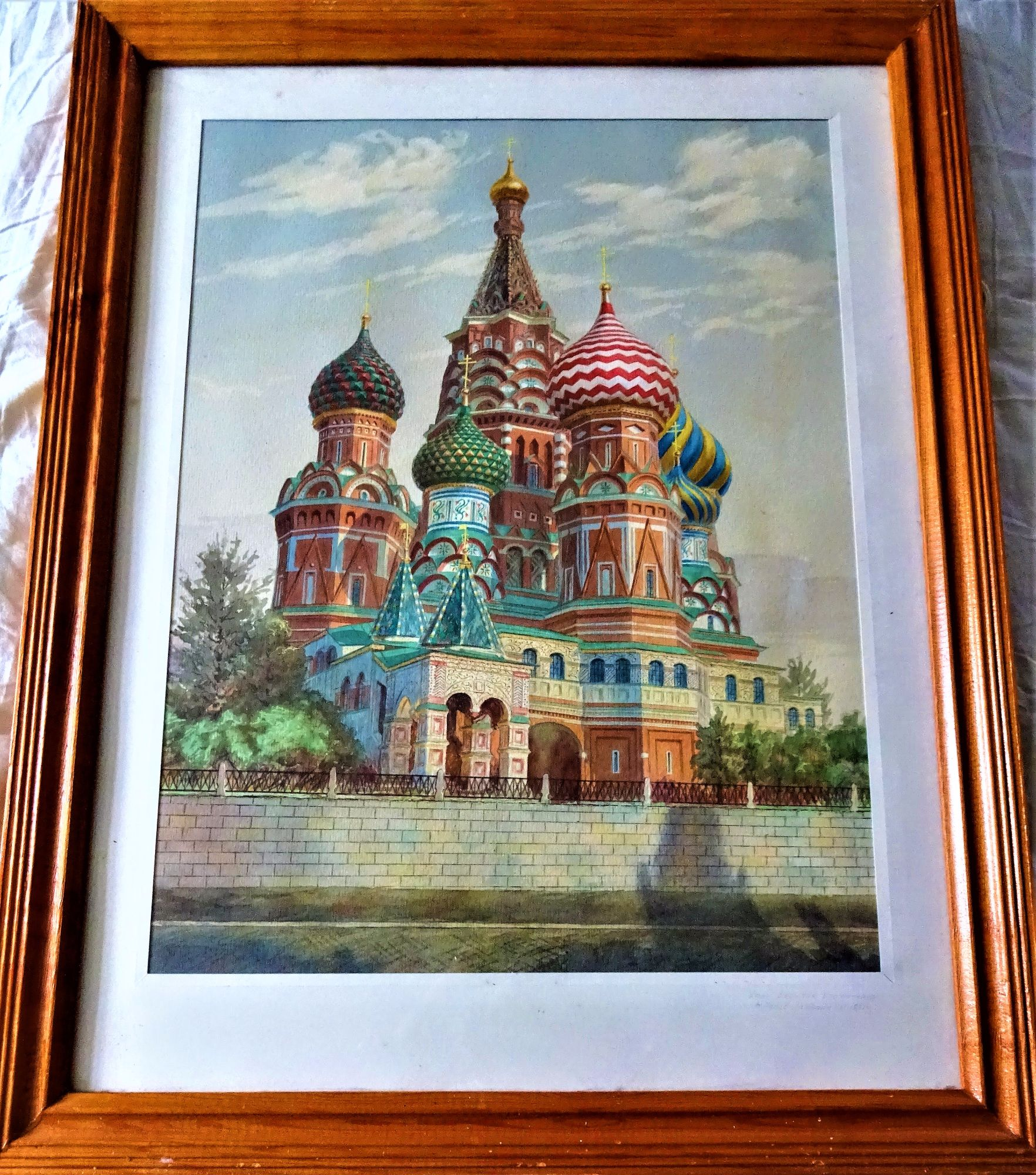 N. Popov, St. Basil's Cathedral, Red Square, Moscow, watercolour, 1991.