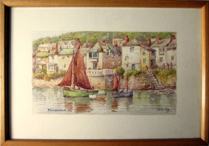 T.H. Victor, Mousehole Cornwall, watercolour, c1960.