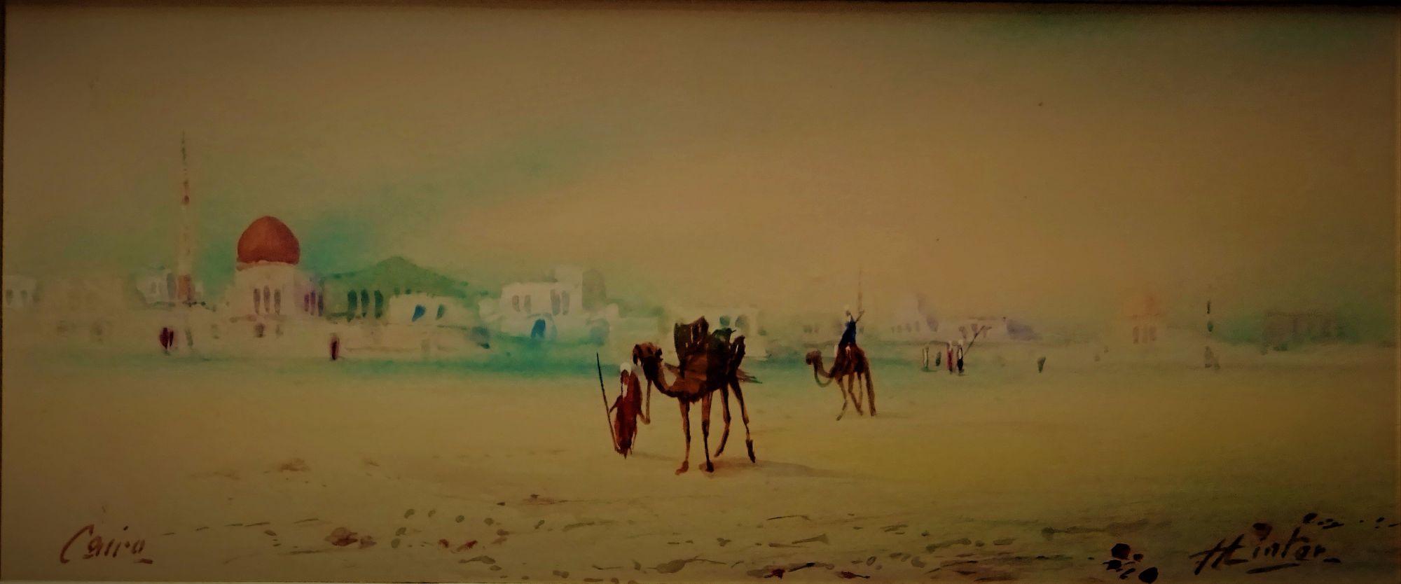 H. Linton, Cairo, watercolour & gouache, c1900.