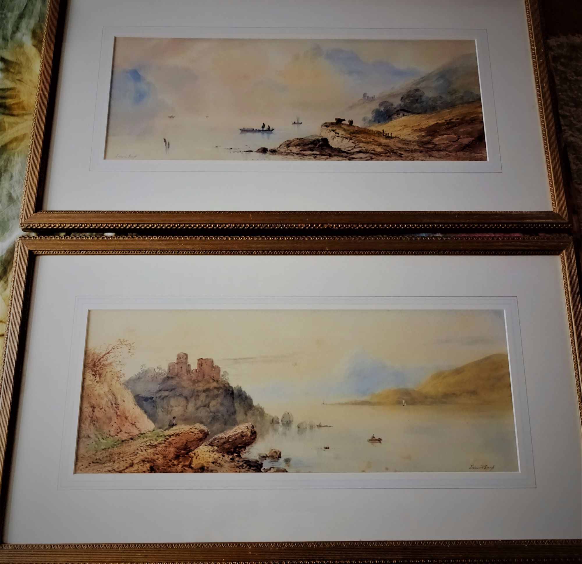 Earp. Edwin, British 19th/20thC, Pair of Highland landscapes, signed, c1920.