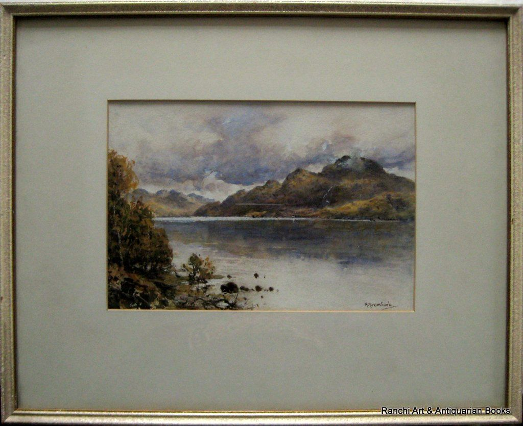 Loch Lomond & Ben Lomond, watercolour & Gouache, signed H. Moxon Cook, c1920.