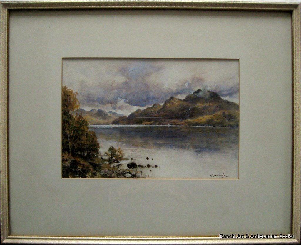 Loch Lomond & Ben Lomond, watercolour & Gouache, signed H. Moxon Cook, c1920.