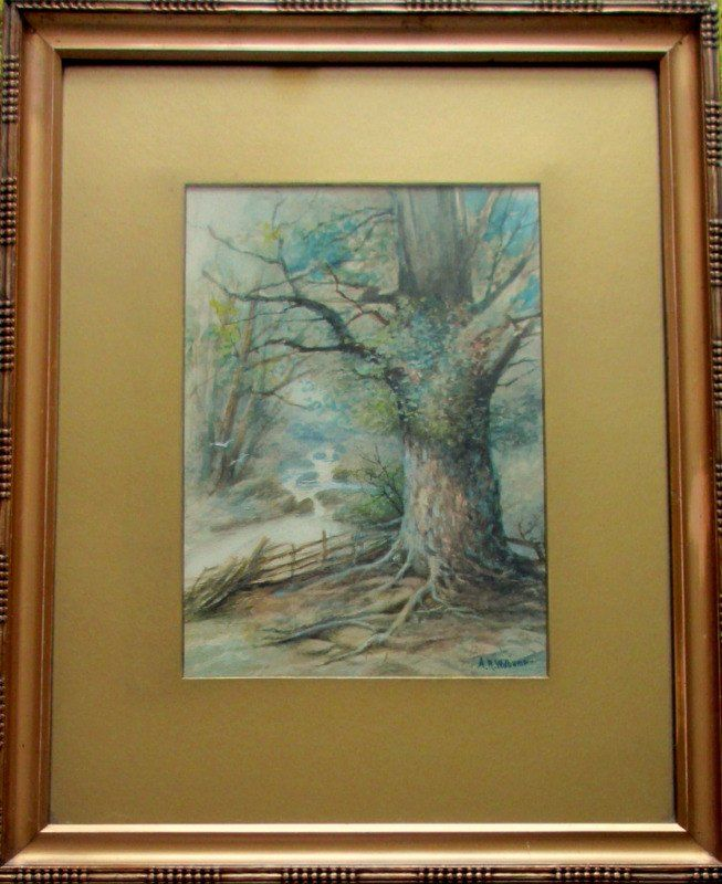 A.R. Williams, A Woody Glen, watercolour and gouache, signed A.R. Williams, c1900.