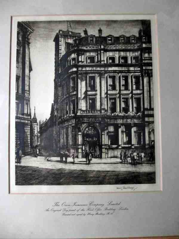 Henry Rushbury print, The Orion Insurance Building, c1925.