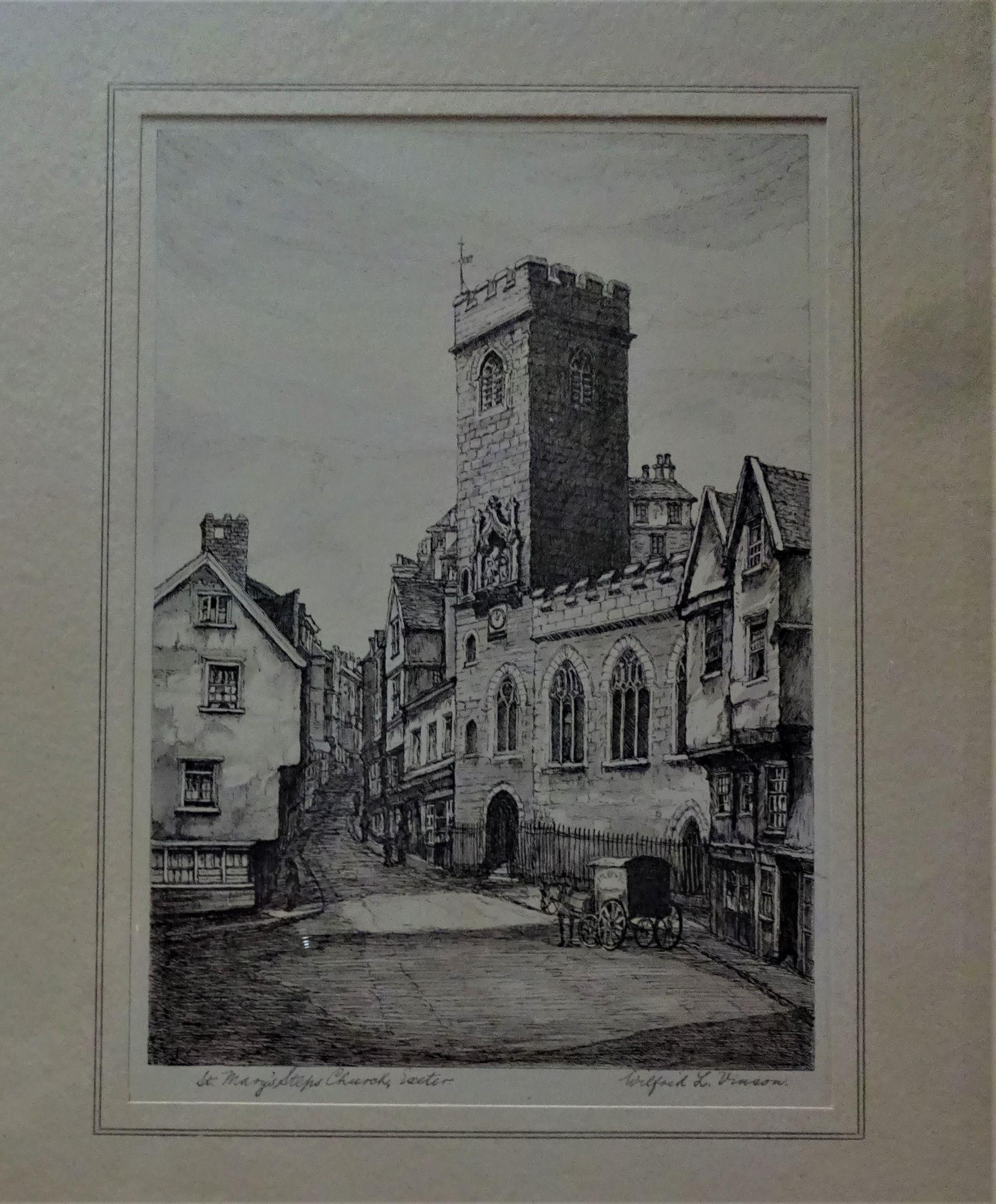 Vinson, Wilfrid L, etching, c1925. Framed.