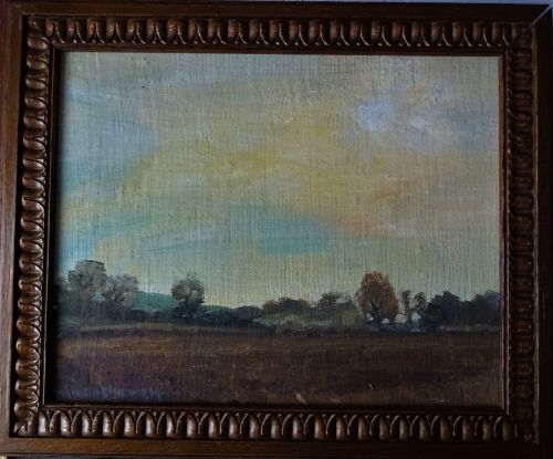 English landscape, oil on board, signed Alice Y Owen, c1920.