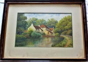The Old Mill, Louth, watercolour on paper, signed and dated CE Donner 1922. Framed.