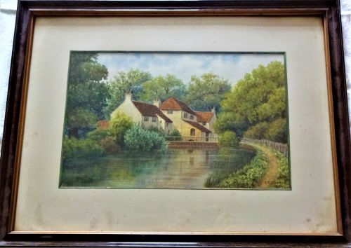 The Old Mill, Louth, watercolour on paper, signed and dated CE Donner 1922.