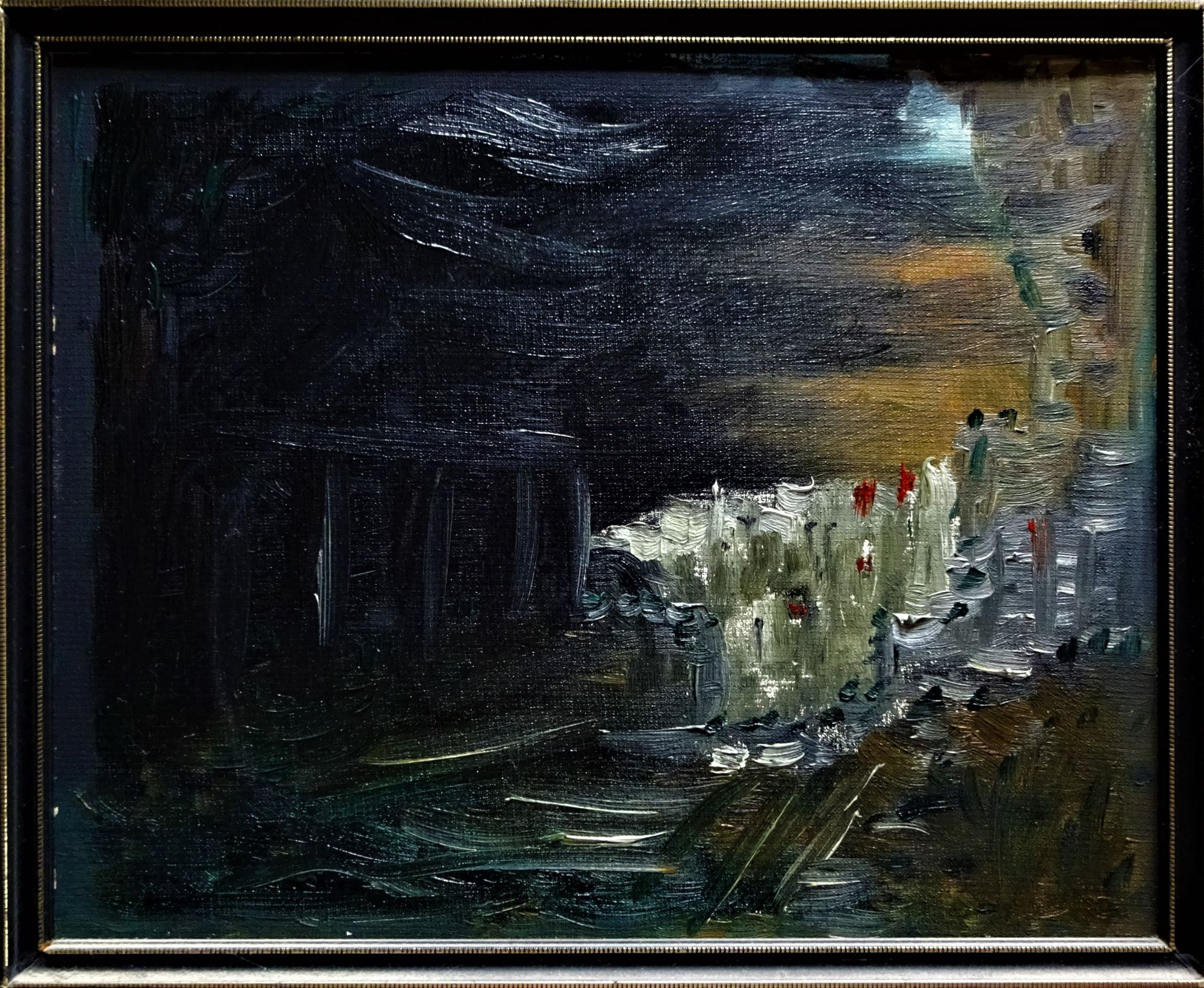 Fuller, R.B., oil on board, The End of the Trail, signed and dated 1976.