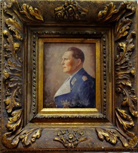 Hermann Goering, oil on panel, signed D. Spahn, c1938.