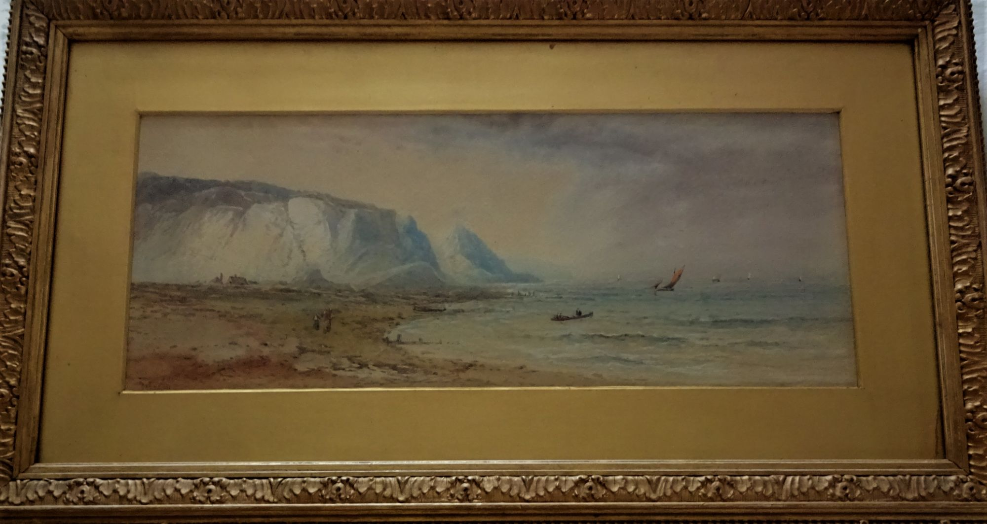 Home in the Jot of Night, watercolour on paper, signed Edwin Earp, 1890. Original frame.