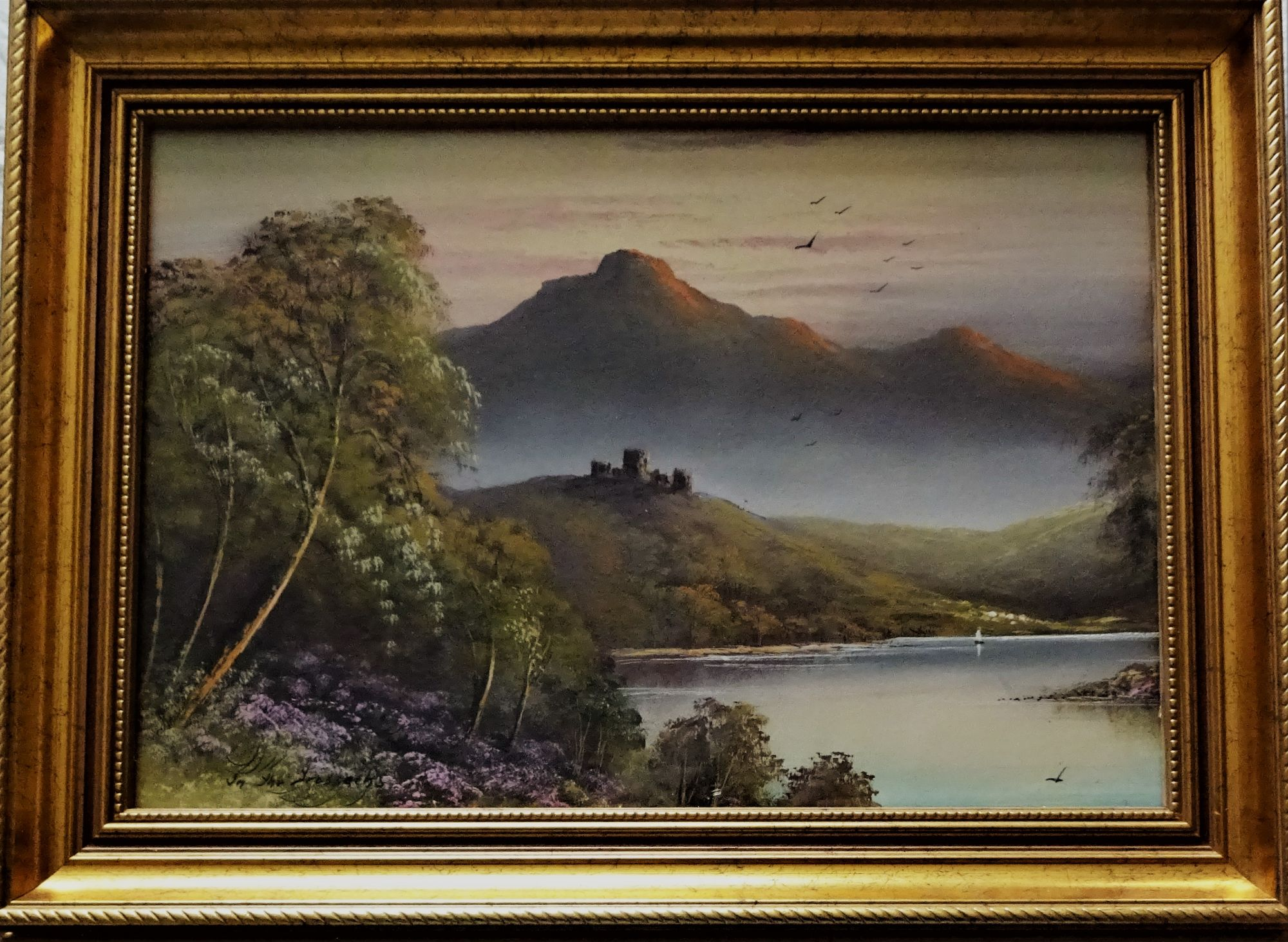 In the Trossachs, gouache, c1960.