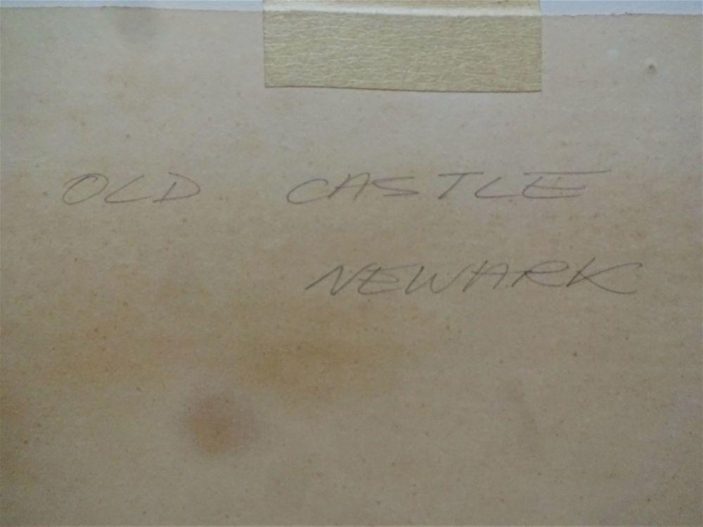 Pencil handscript support verso Old Castle NewarkDSC04781