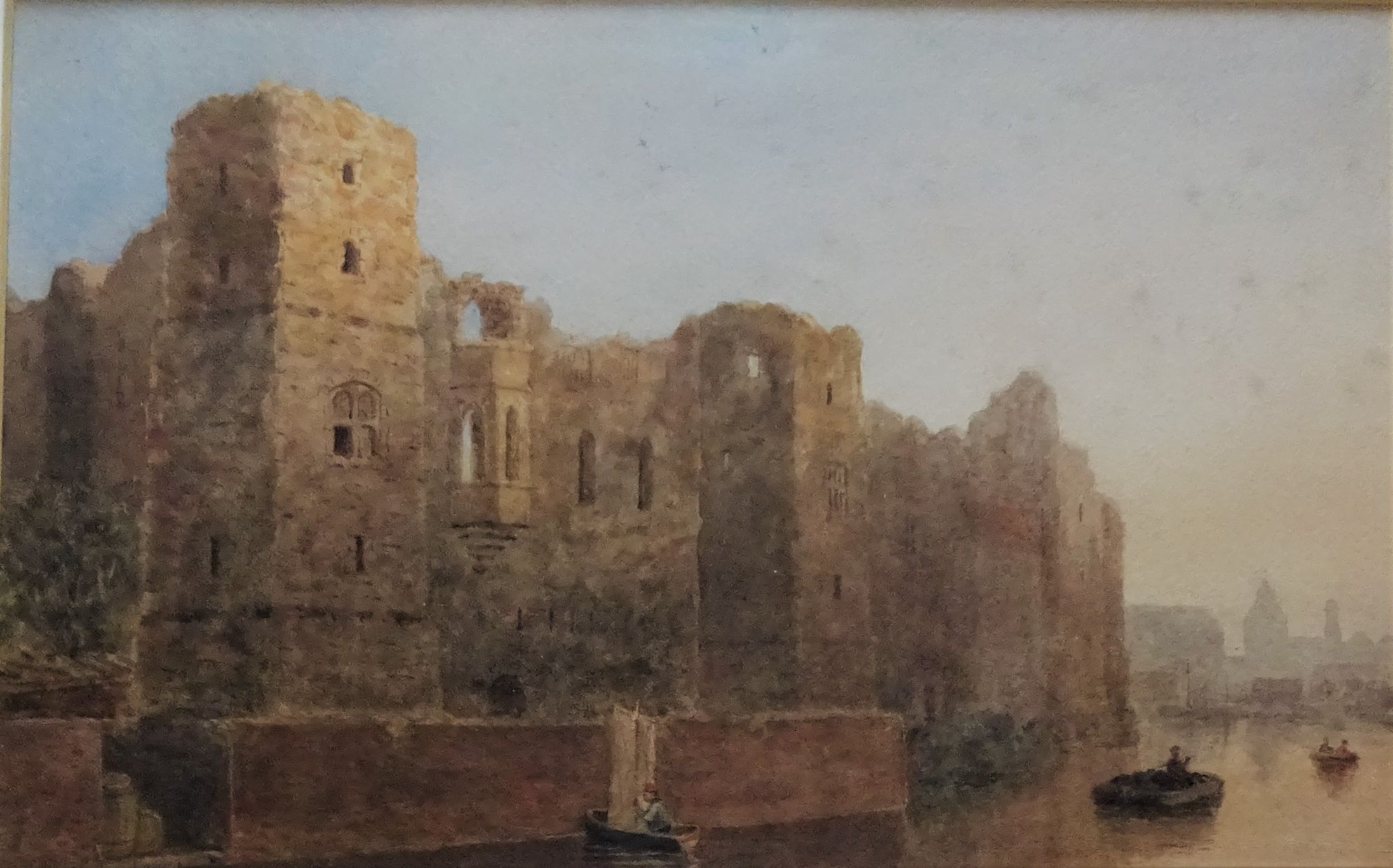 Old Castle Newark, watercolour, signed initials C.P.T  c1835.