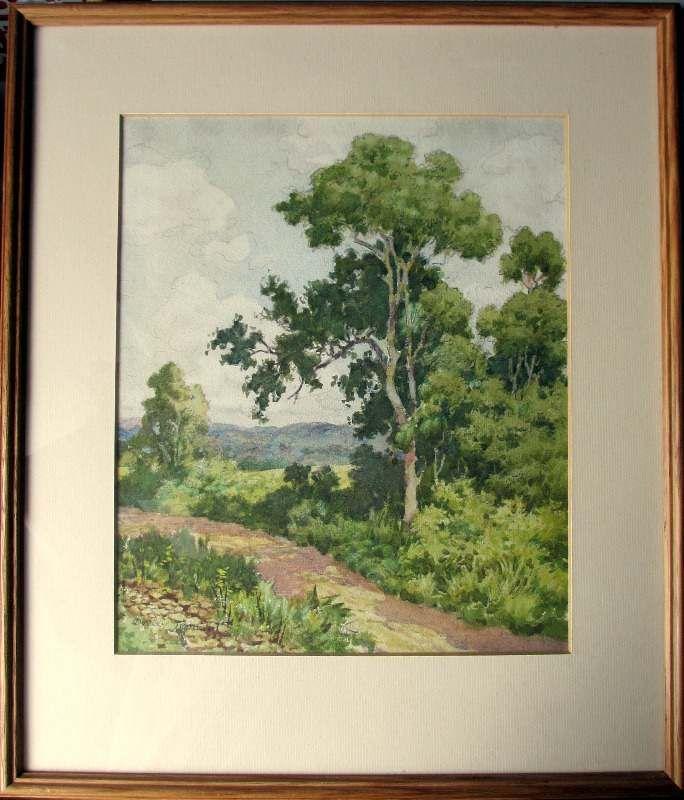 Dudley Tennant, English Landscape, watercolour, c1930.