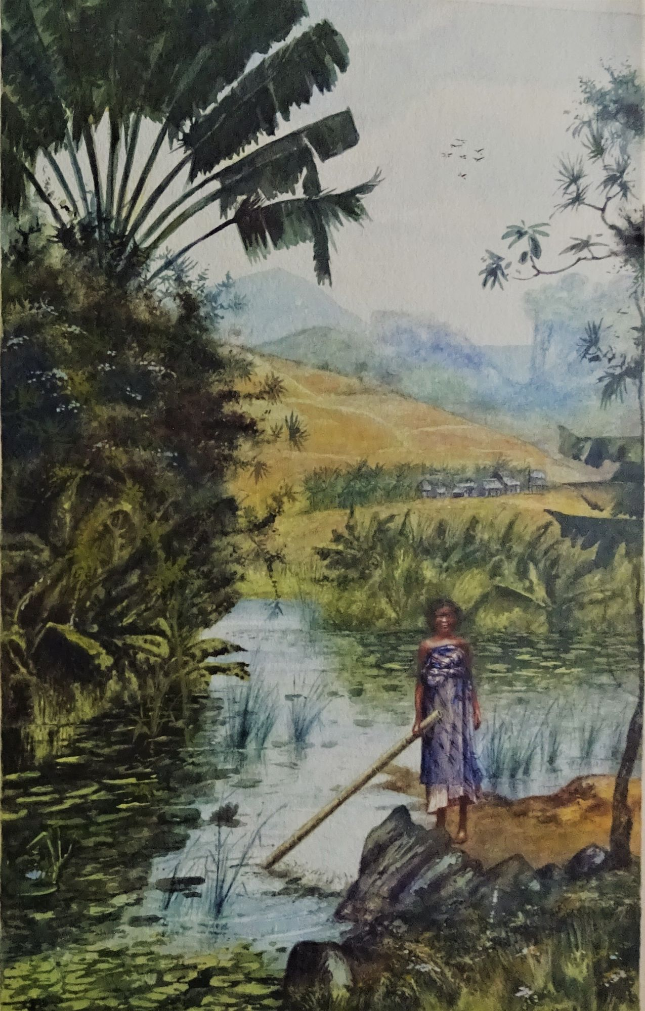 A. Ramiandrasoa, watercolour, c1910.
