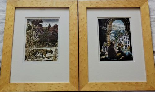 A pair of Wood Engravings, A Tiger! A Tiger! and The Procession, Gwen Raver