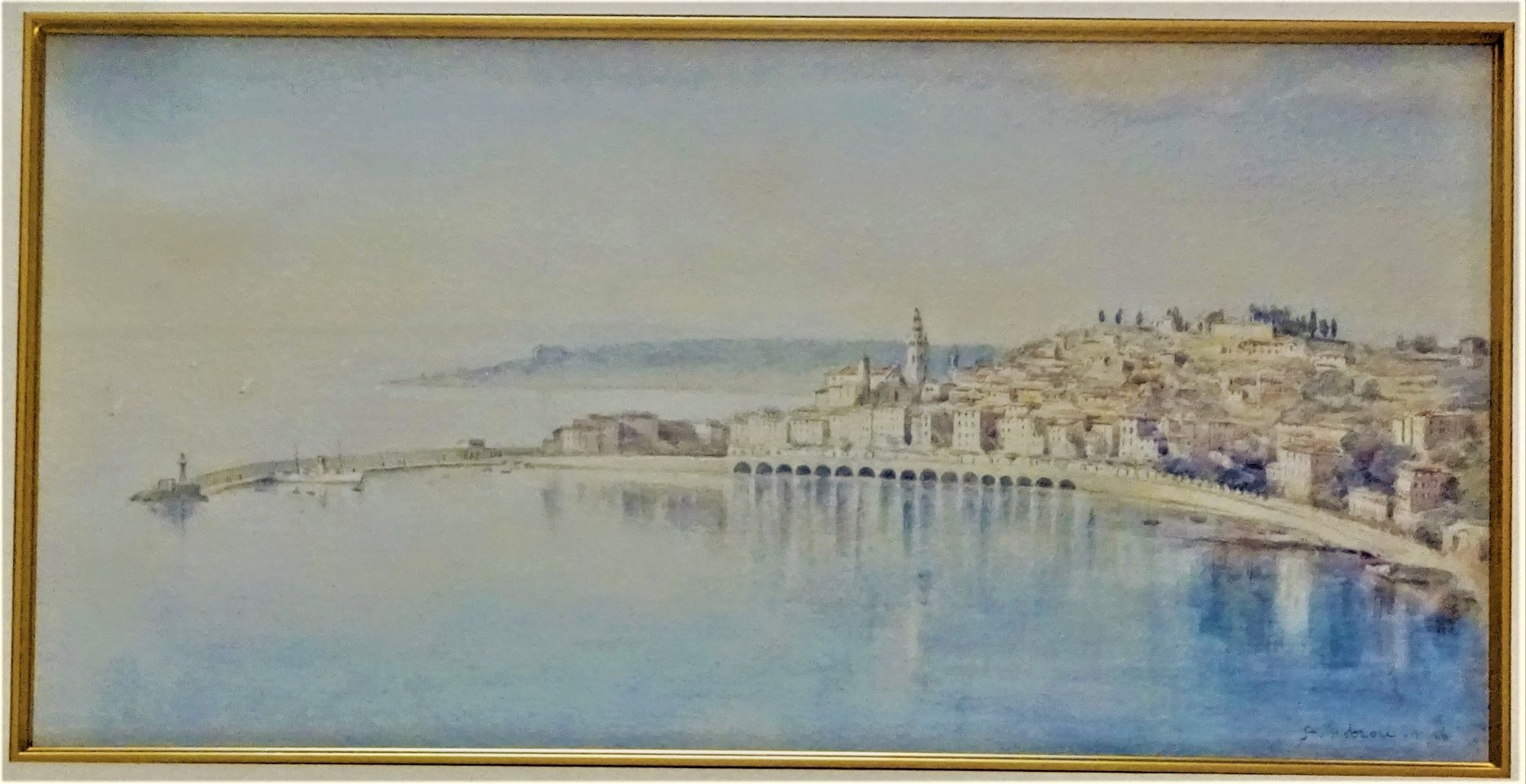 A. Hobson, Menton Harbour, 1926.
