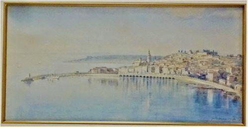 Menton Harbour, A. Hobson, 1926.