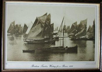 Brixham Trawlers, Waiting for a Breeze, 1889. Photograph from Francis Frith Collection 1860-1940.